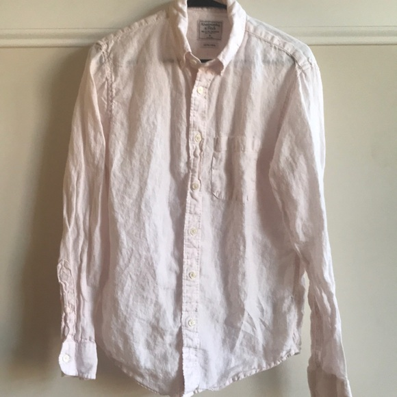Abercrombie & Fitch Other - Abercrombie & Fitch Pink Linen shirt Medium small